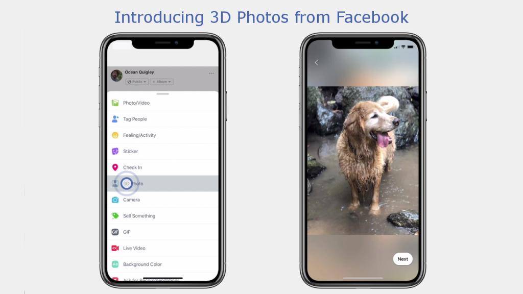 Facebook déploie les 3D Photos obtenues avec le mode portrait