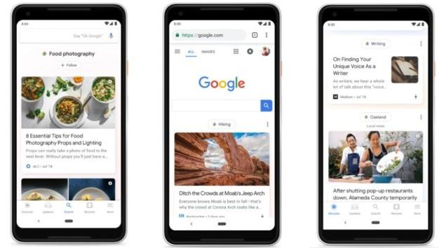 Pourquoi la version mobile de Google ne sera plus aussi sobre qu'avant