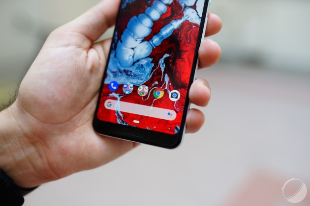 Le Pixel 3 XL a un menton plus apparent