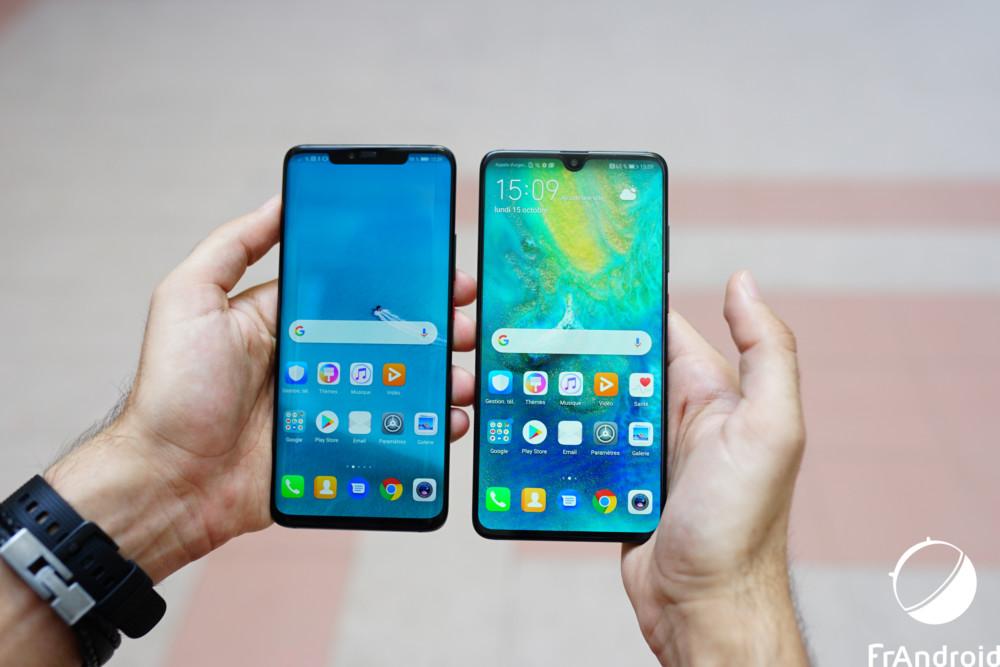 Les derniers smartphones de Huawei, les Mate 20 Pro et Mate20