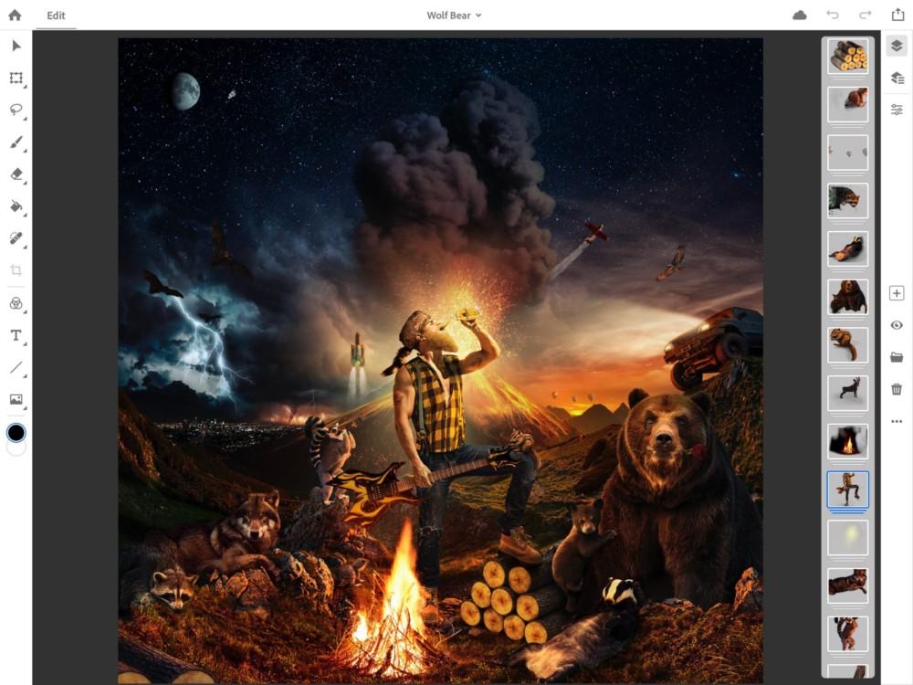 L'iPad va avoir droit à une vraie version de Photoshop CC