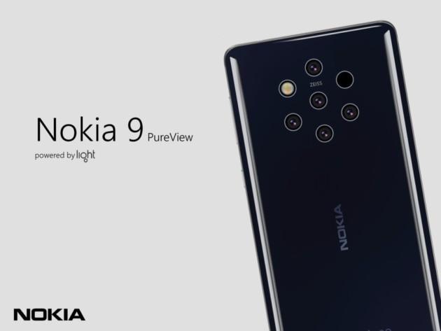Un rendu du Nokia9 PureView basé sur les fuites