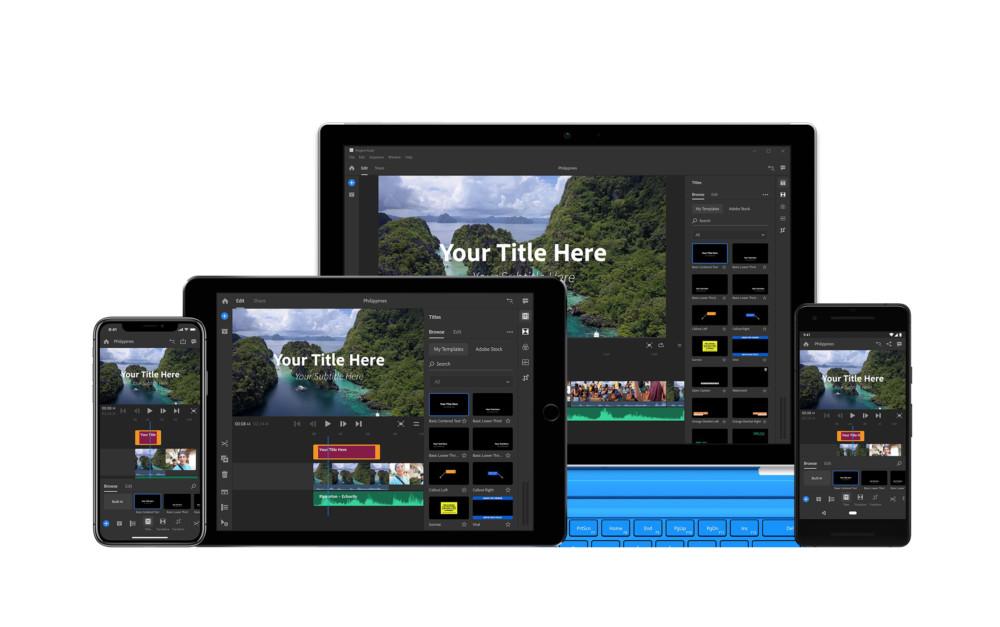 Adobe Premiere Rush CC : un éditeur vidéo pour les YouTubers sur Android, iPhone, iPad et PC
