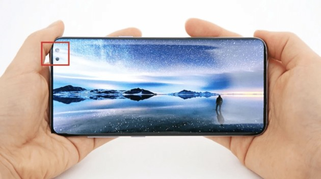 Samsung Galaxy A8s : le design sans encoche ni bordures semble se confirmer
