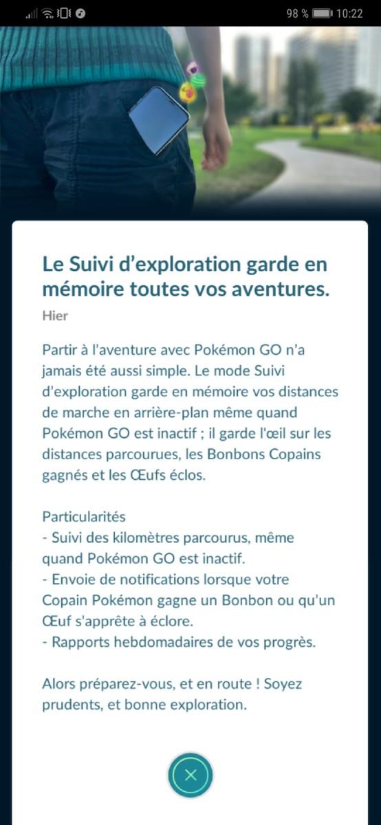 Pokémon Go enregistre enfin vos pas sans que l'application ne soit ouverte