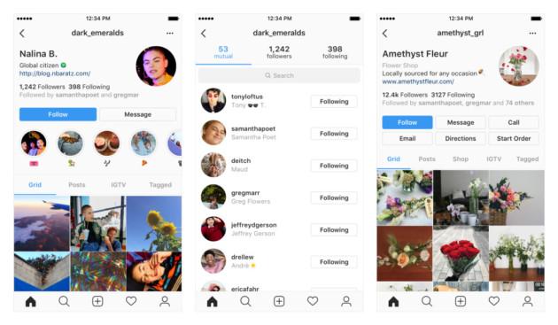 Instagram revoit l'interface de ses profils en la rendant plus claire et lisible