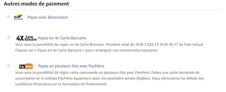 Amazon mettre ajour le paiment