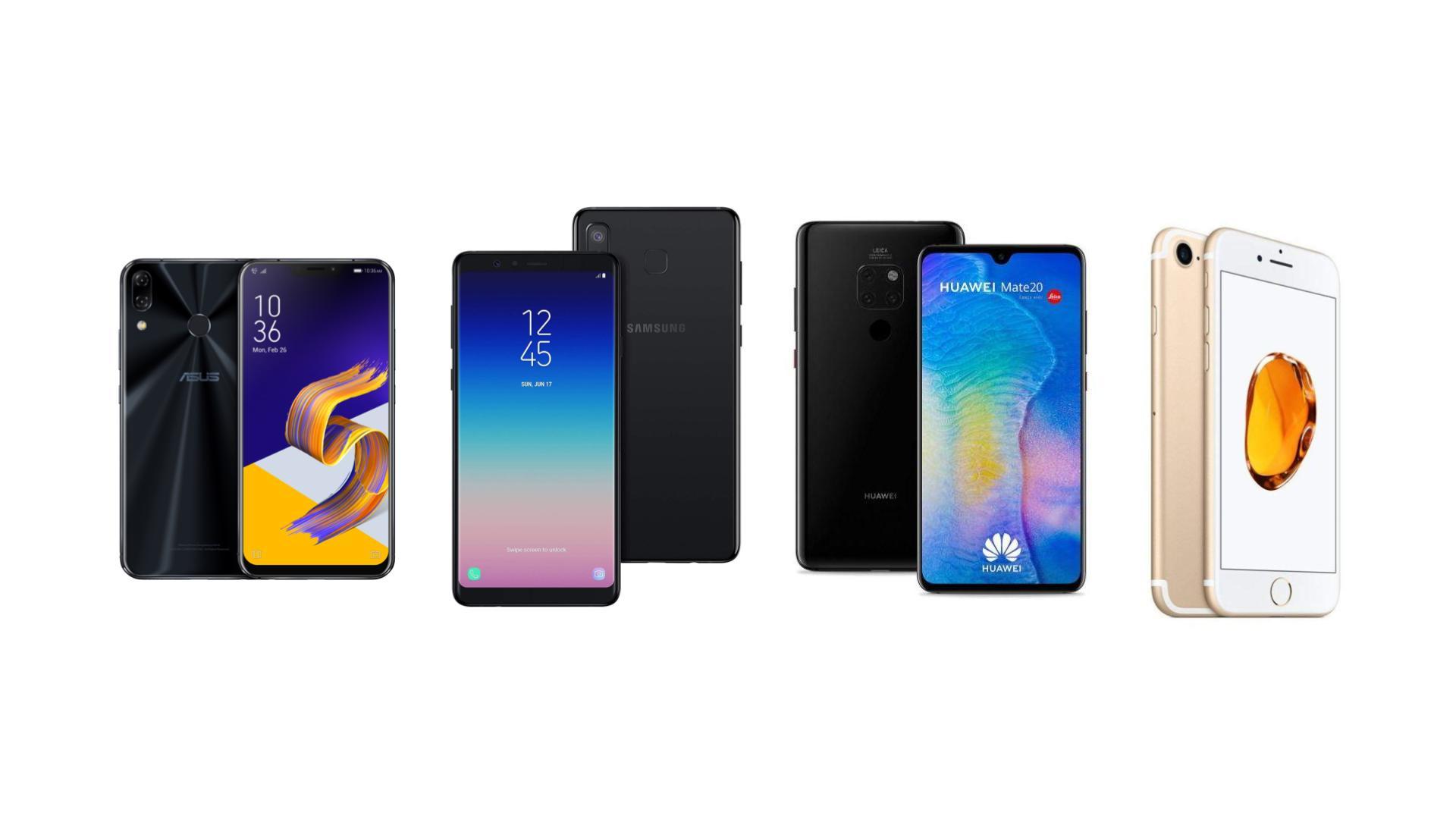 Huawei Mate 20 à 669 euros, iPhone 7 à 320 euros et Zenfone 5 269 euros sur eBay