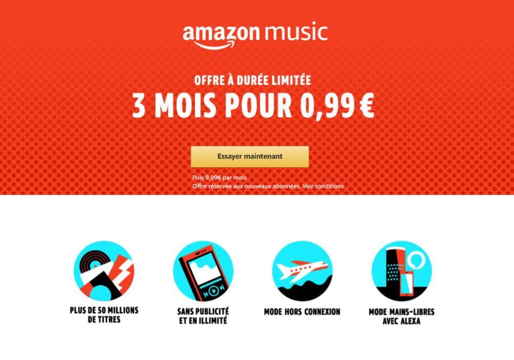 9ba1c7416386 🔥 Bon plan : 3 mois de streaming musical Amazon Music Unlimited ...