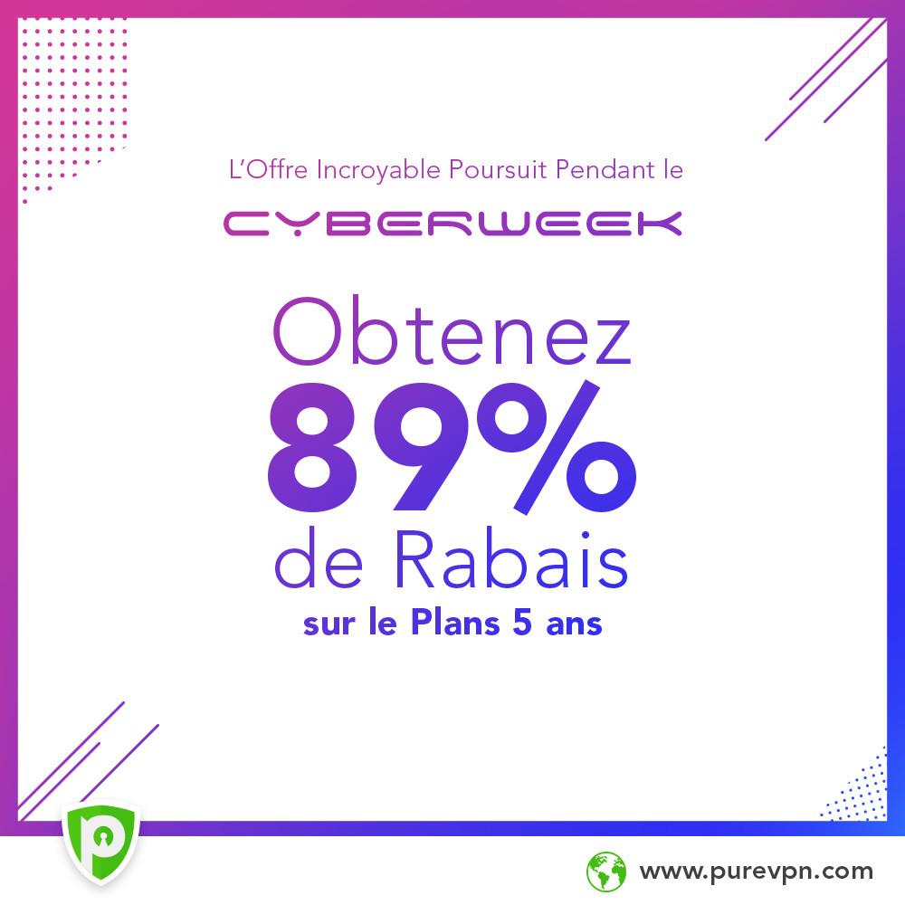 Cyber Monday : profitez d'un abonnement à PureVPN à 69 euros pour les 5 prochaines années à venir
