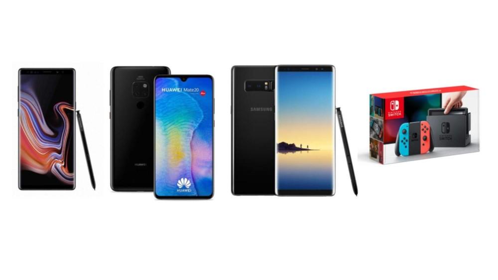 Galaxy Note 9 à 619 euros, Note 8 à 479 euros et Nintendo Switch à 274 euros sur eBay dès aujourd'hui