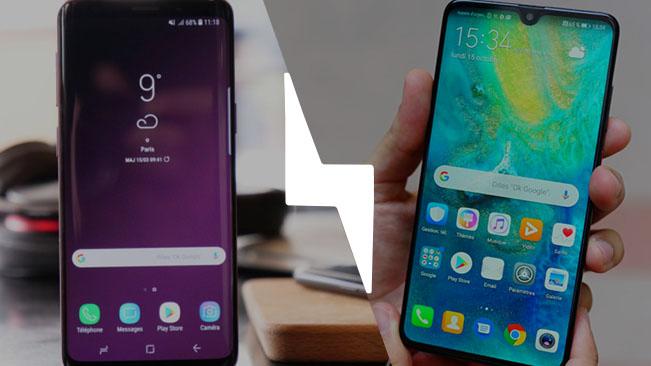Huawei mate 20 vs samsung s9