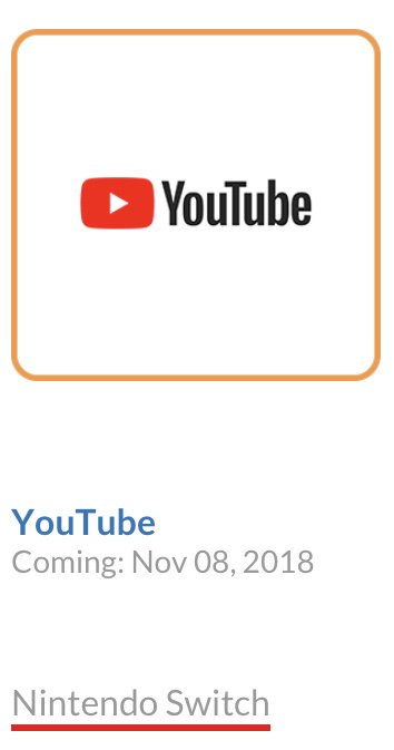 YouTube Débarque Sur La Nintendo Switch, C'est Officiel