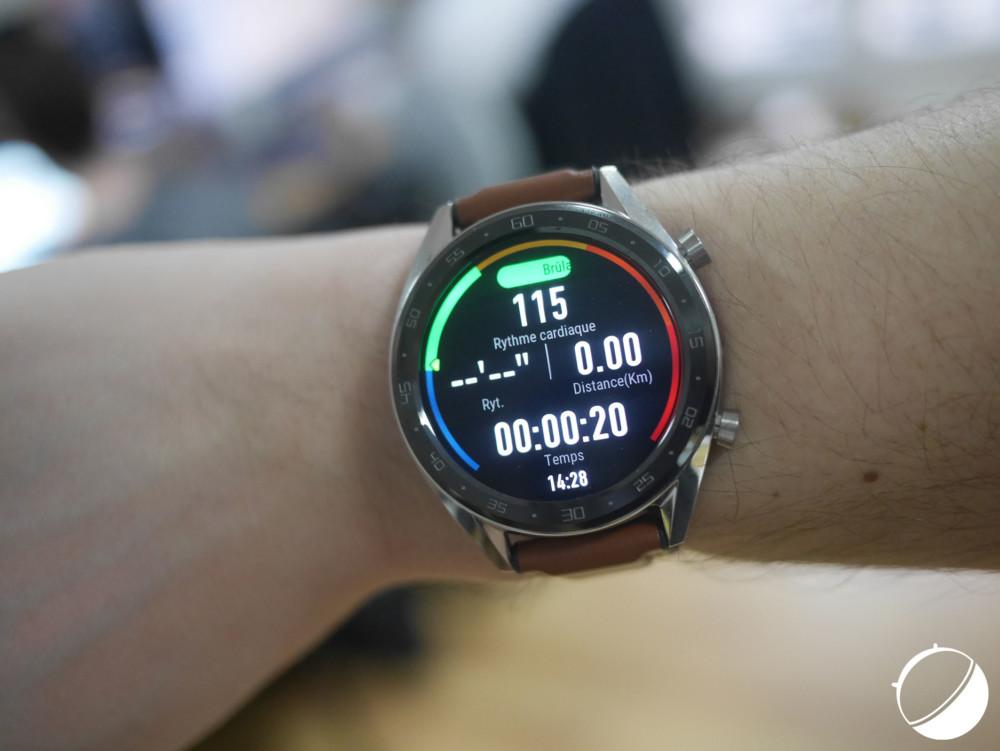 La montre va mesurer différentes données durant vos entraînements