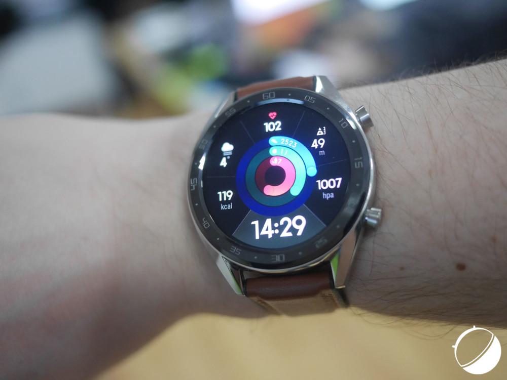 Le cadran « activité analogique » de la Huawei Watch GT