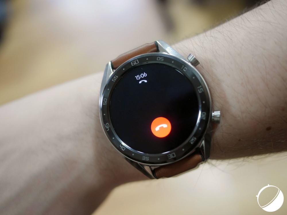 La Huawei Watch GT n'indique pas le numéro des personnes appelant