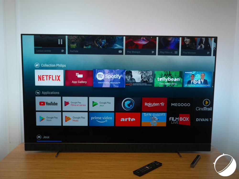 Le téléviseur de Philips est doté d'Android TV