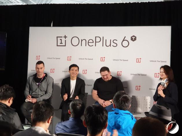 La conférence de presse de Pete Lau juste après la présentation du OnePlus6T.