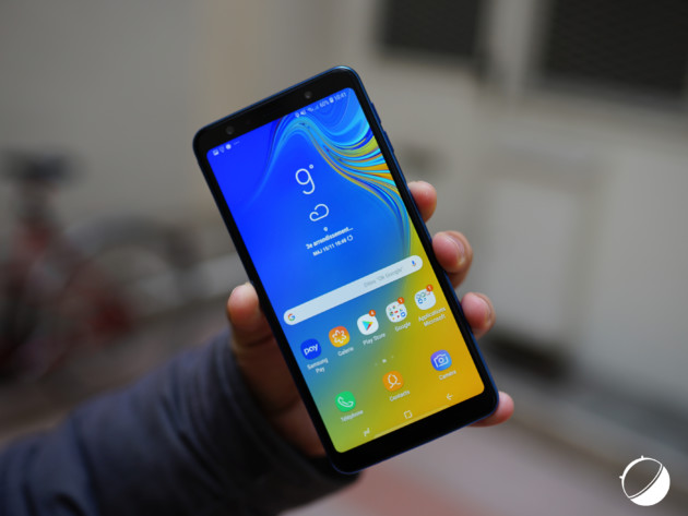 Le Samsung Galaxy A7 2018 pour illustration.