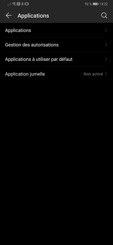 Applications de branchement noir