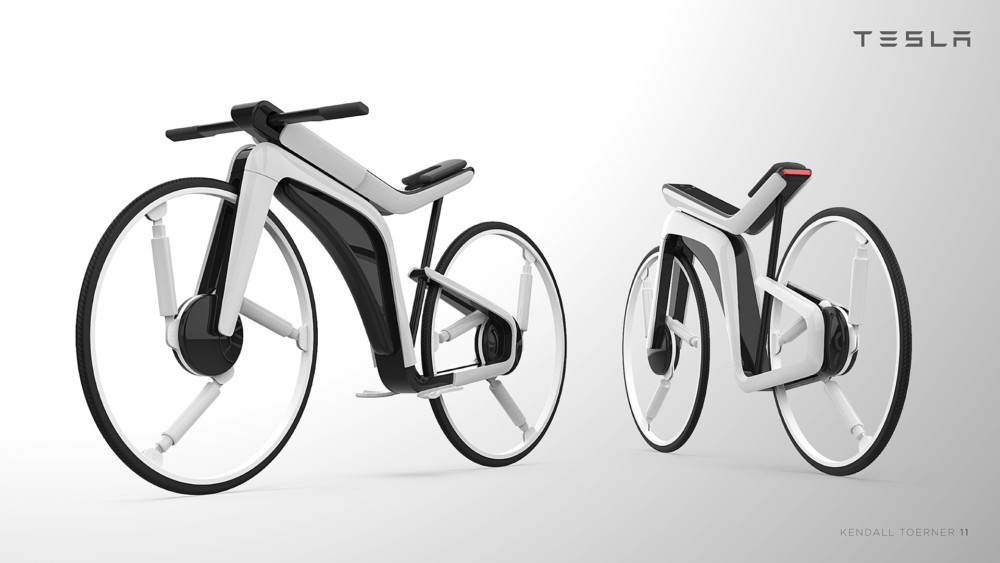 Vélo électrique Tesla Model B - Design par Kendall Toerner