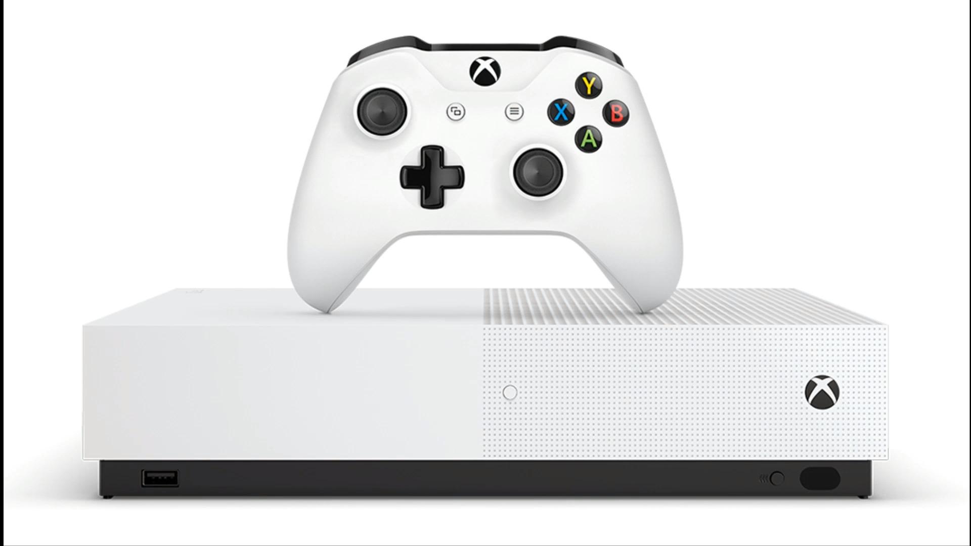 Xbox One S sans lecteur blu ray
