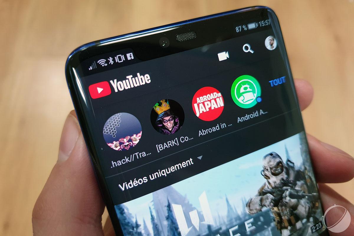 YouTube récupère le streaming local de jeux sur votre smartphone Android