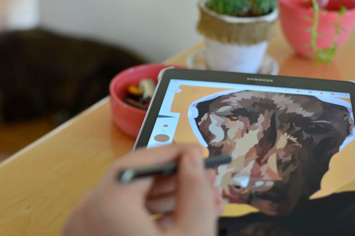 Application de dessin sur tablette Samsung