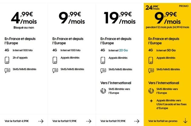 🔥 Bon Plan : forfait mobile Sosh avec 50 Go de 4G à 9,99 euros par mois pendant un an