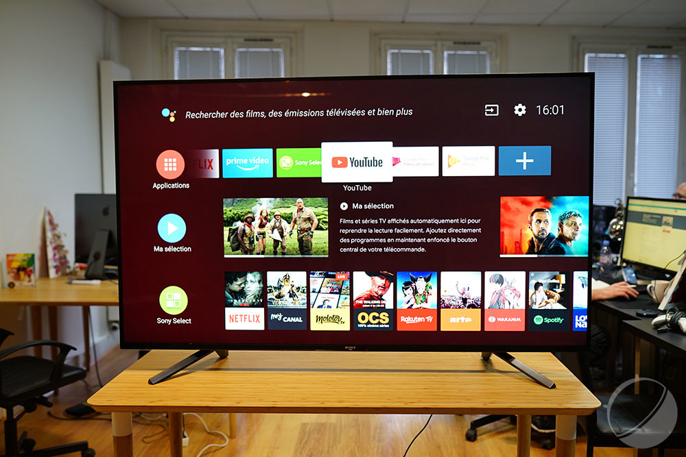 L'interface Android TV
