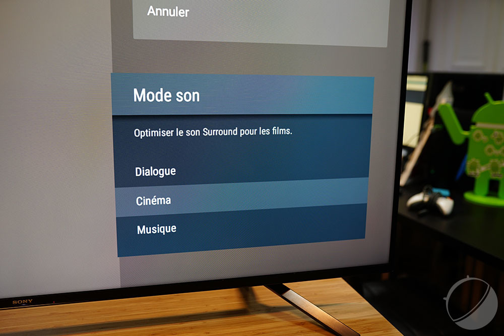Le téléviseur propose plusieurs modes audio