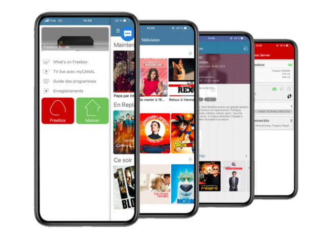 L'application mobile de la Freebox Delta.