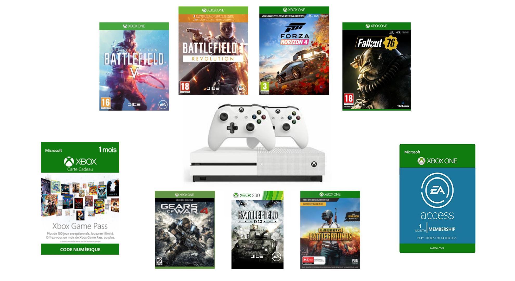 Bon Plan Mega Pack Xbox One S 1 To 2 Manettes 7 Jeux A 249