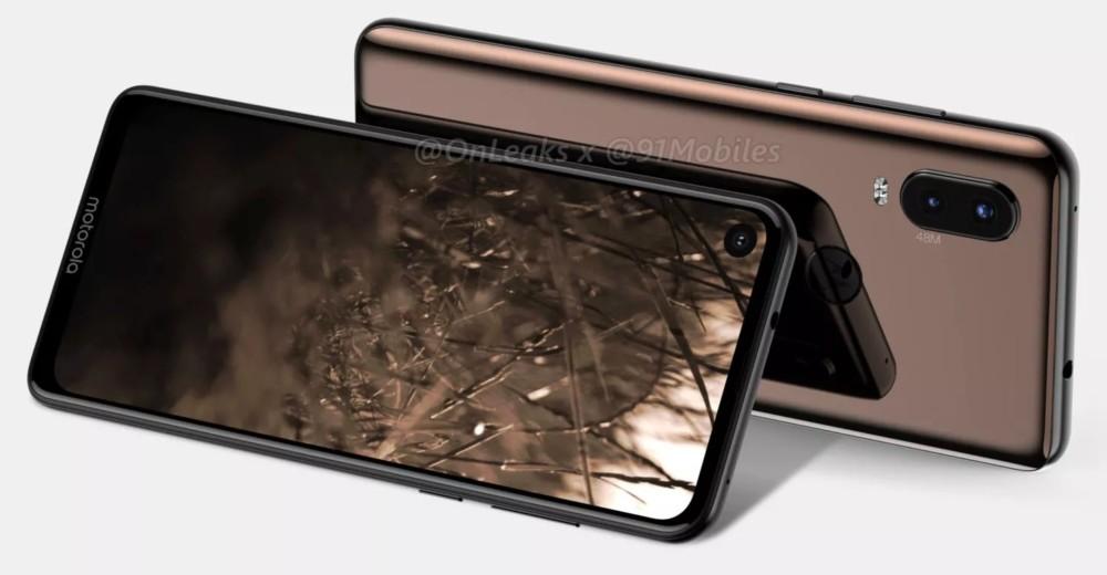 Image de rendu du Motorola P40 par OnLeaks