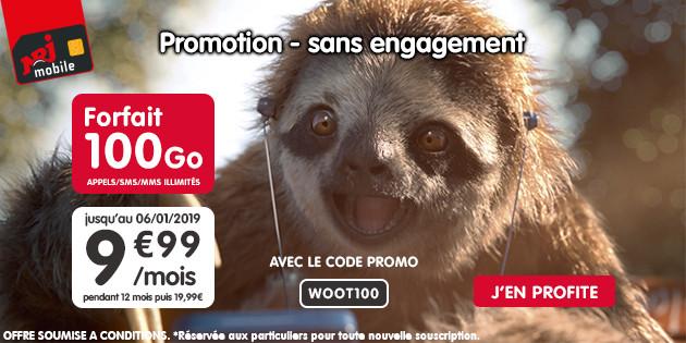 🔥 Bon plan : forfait mobile sans engagement avec 100 Go de 4G à 9,99 euros chez NRJ Mobile