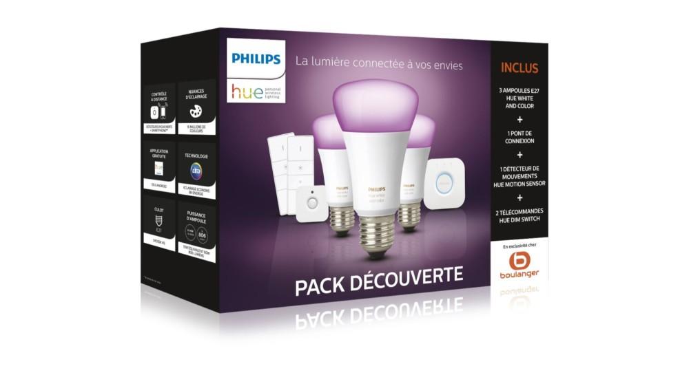 🔥 Bon plan : le pack 3 ampoules Philips Hue White & Color (E27) est à 169 euros
