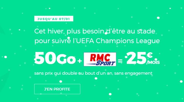 🔥 Prolongation : forfait mobile Red by SFR avec 50 Go de 4G et RMC Sport à 25 euros par mois