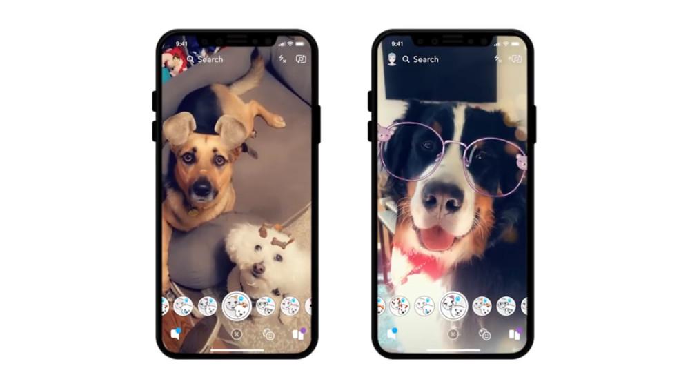 Essayez les nouveaux filtres pour chiens sur Snapchat