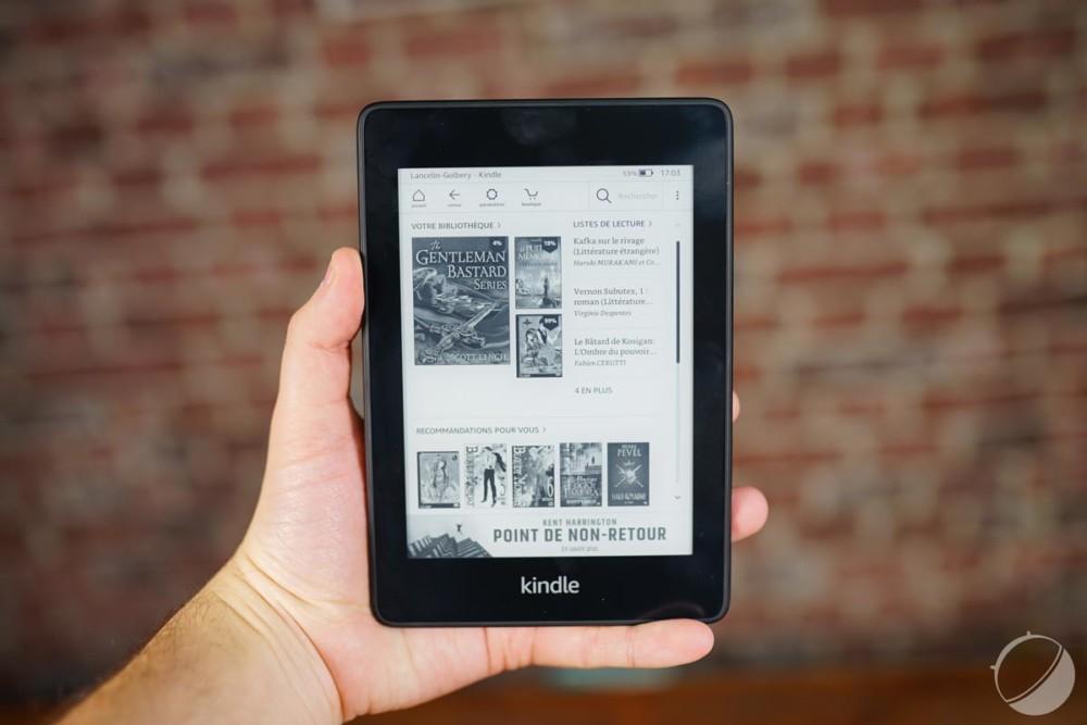Une Kindle Paperwhite d'Amazon / Source : Frandroid