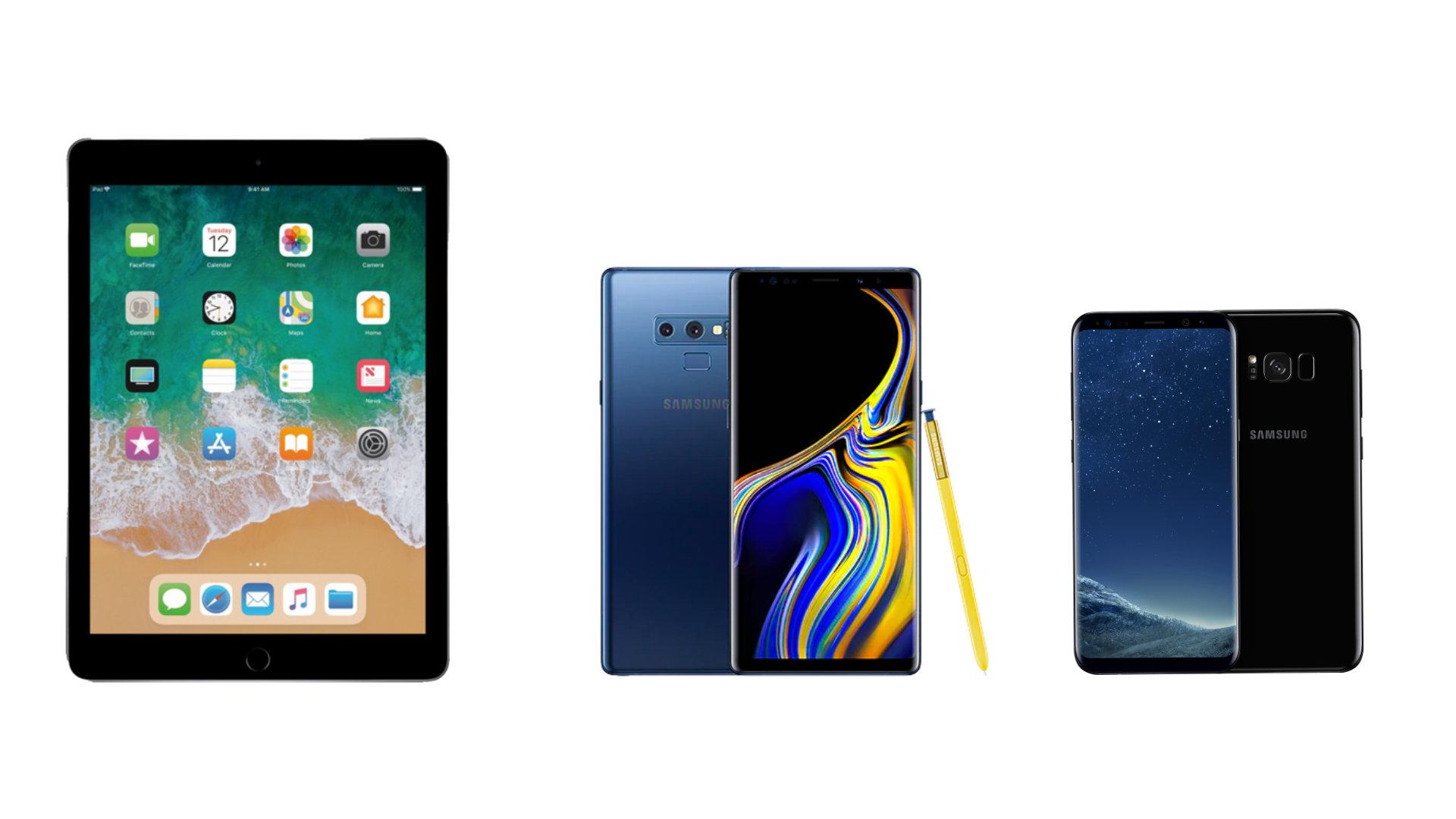 Ipad 2018 à 279 Euros Samsung Galaxy Note 9 à 589 Euros Et Galaxy