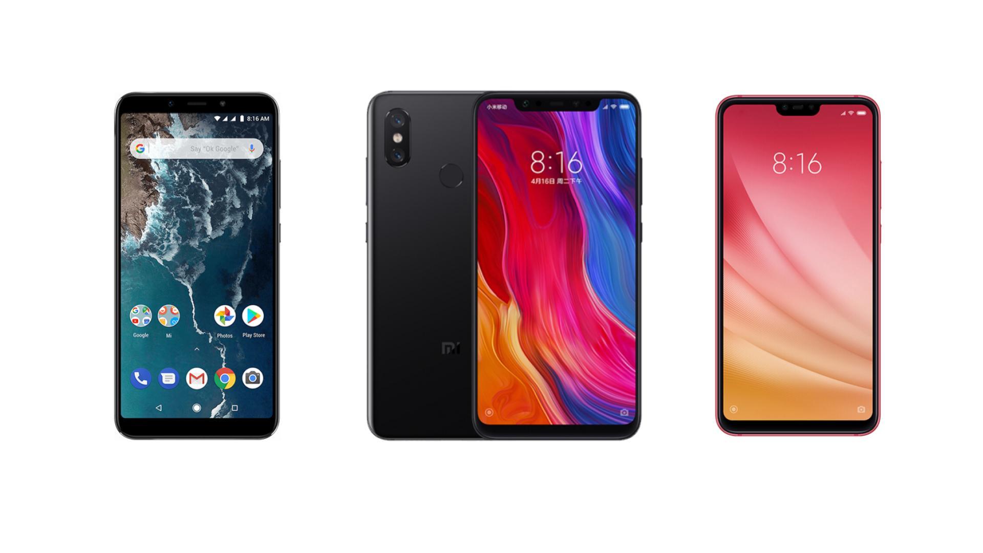 Xiaomi Mi 8 à 336 euros, Mi 8 Lite à 190 euros et Mi A2 à 164 euros sur GearBest
