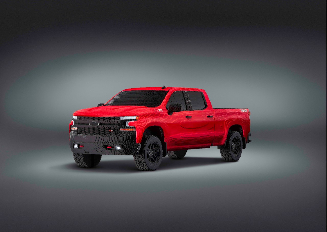 Ce Pick Up Chevrolet Silverado En Lego A 233 T 233 Assembl 233 Avec