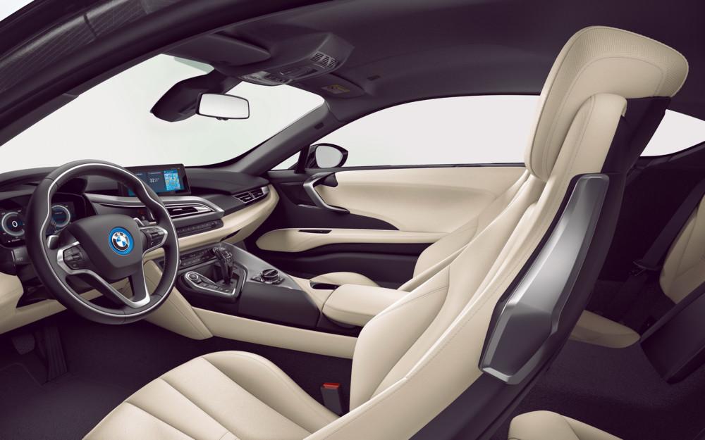 L'intérieur de la BMWi8 coupé