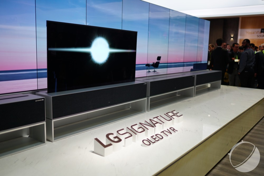 Le téléviseur enroulable de LG