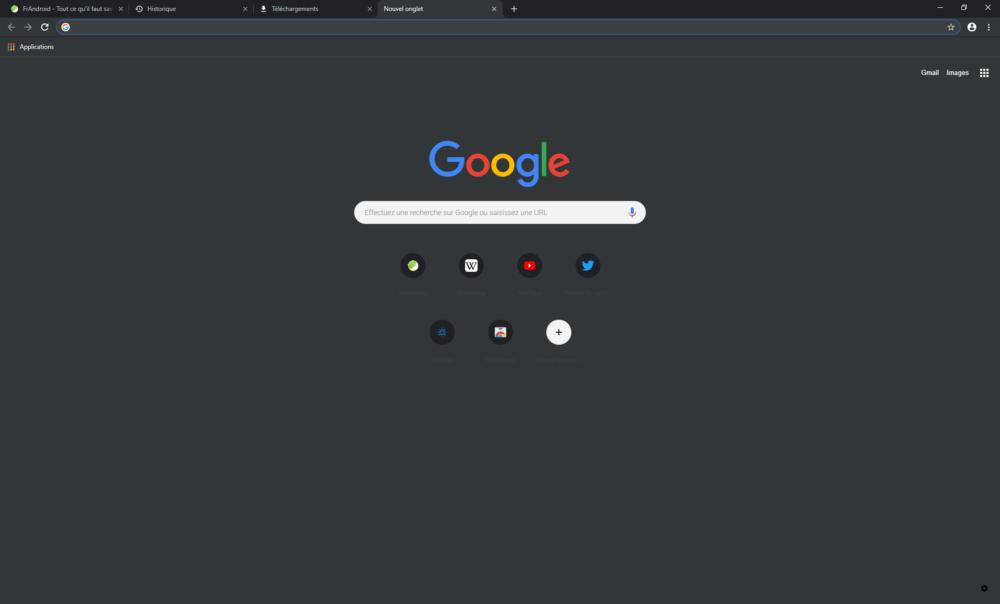 Google Chrome 74 s'adapte au mode sombre de Windows 10