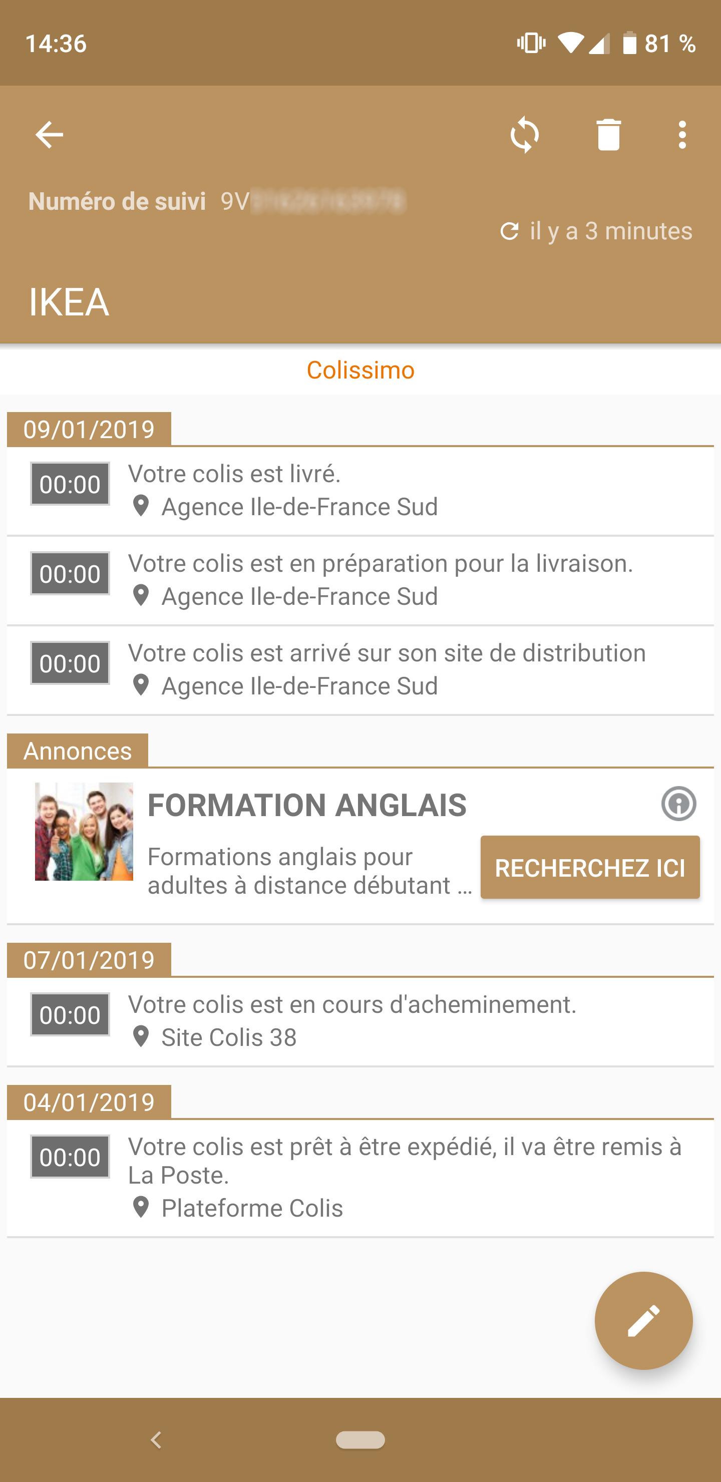 L App De La Semaine Je Suis En Direct Tous Les Colis De Mes