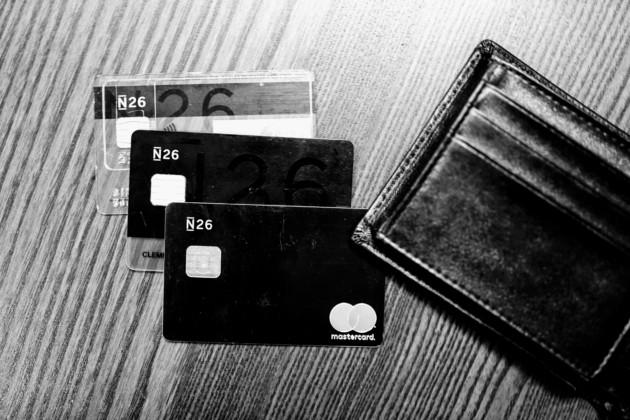 Les 3 cartes : N26 Standard, N26 Black et N26 Metal