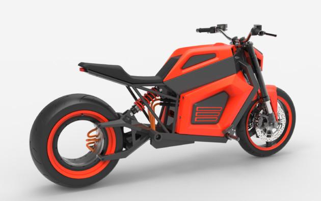 RMK E2 : une puissante moto électrique tout droit venue du futur