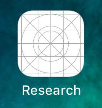 Icône de l'application Facebook Research sur iOS