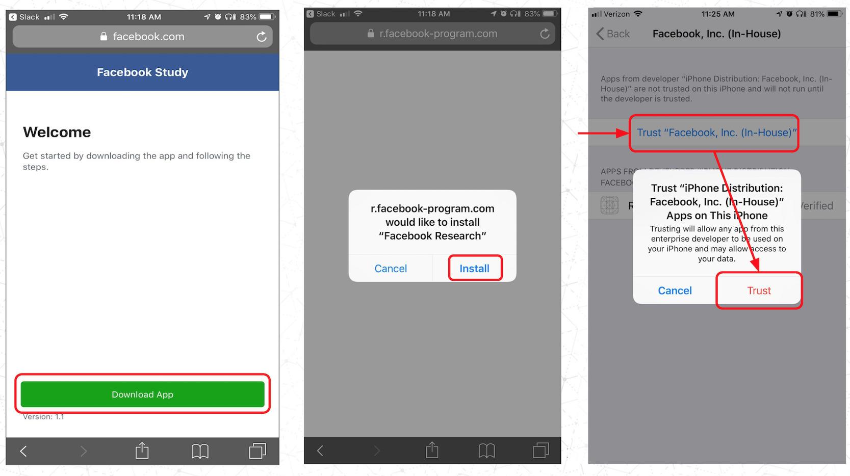 Facebook a payé des adolescents pour collecter leurs données